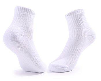 Custom LOGO white quarter socks for girls women ladies