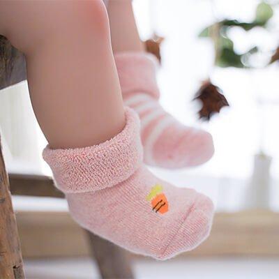 Custom baba kids thick warm socks
