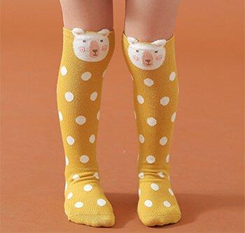 Custom children cotton knee high socks