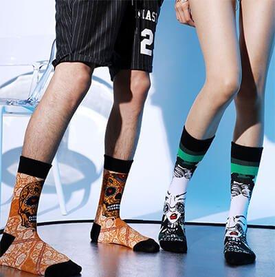 Custom cotton 3D printing socks