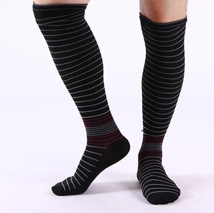 Custom cotton knee high socks for men