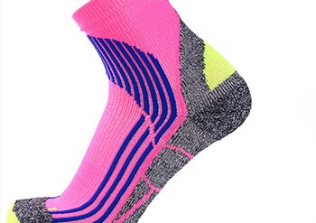 Custom cushion ankle quarter sport socks