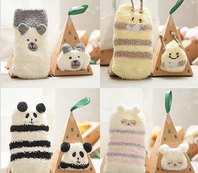 Custom cute 3D fuzzy socks