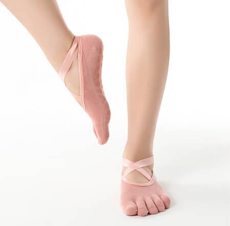 Custom five toe yoga socks pilates socks