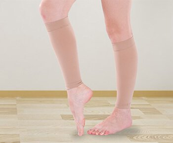 Custom knee high medical compression stockings