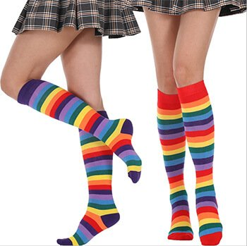 Custom ladies and womens over the knee socks