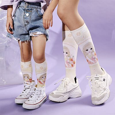 Custom polyester socks for sublimation