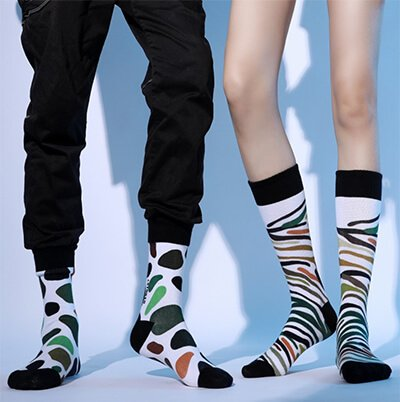 Custom private label 3D digital printing socks
