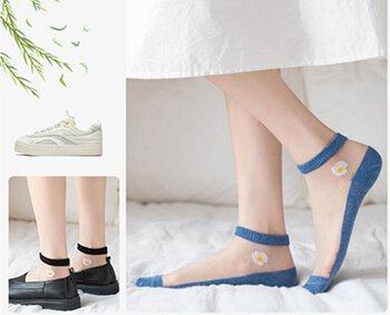 Custom summer thin ankle socks for women ladies