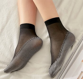 custom ladies summer thin low cut socks